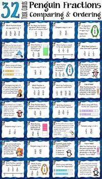 Comparing Fractions Bundle (Penguin Fractions)