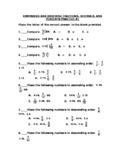 Comparing and Ordering Fractions, Decimals, & Percents Pra