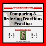 Comparing and Ordering Fractions Practice Worksheets