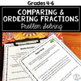 Comparing and Ordering Fractions Problem Solving