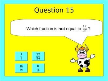 Comparing and Ordering Fractions Test Assessment Quiz