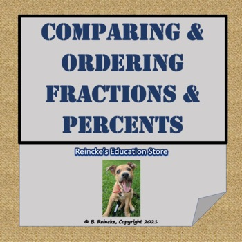 Comparing and Ordering Fractions and Percents Worksheet for Practice