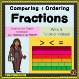 Comparing Fractions and Ordering on Google Slides® for Dis