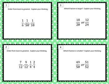 Comparing and Ordering Fractions using Informal Stratgies