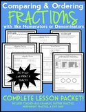 Comparing & Ordering Fractions with Like Numerators or Denominators Lesson