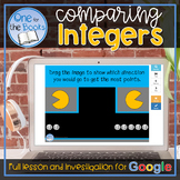 Comparing and Ordering Integers Digital Activity and Lesson