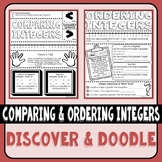 Comparing and Ordering Integers Doodle Notes