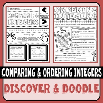 Comparing and Ordering Integers Discover & Doodle