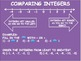 Comparing and Ordering Integers Powerpoint and Guided Student Notes