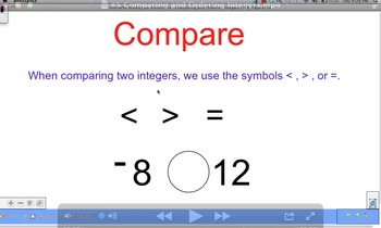 Comparing and Ordering Integers Video