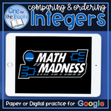 Comparing and Ordering Integers Worksheet | Distance Learning