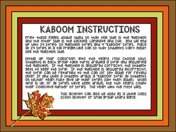 Comparing and Ordering KABOOM!: TEKS 3.2D & CCSS 4.NBT.A.2