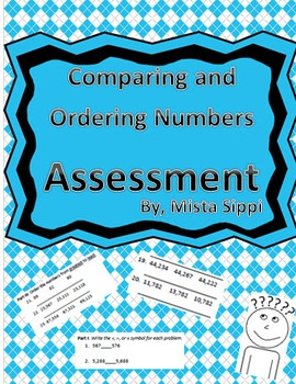 Comparing and Ordering Numbers Assessment