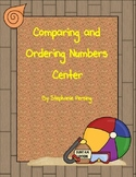 Comparing and Ordering Numbers Center- Beach Theme