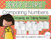 Comparing and Ordering Numbers Exit Slips
