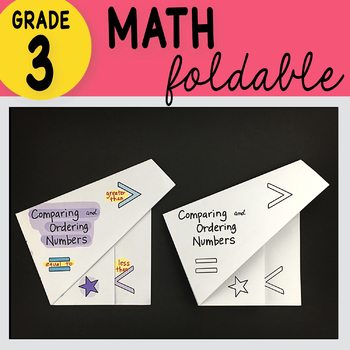 Doodle Notes - Comparing and Ordering Numbers Foldable Math Doodles TEK