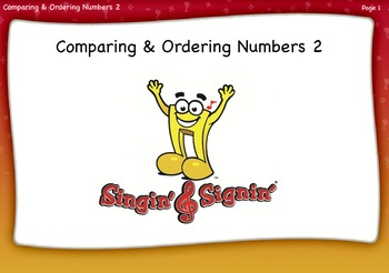 Comparing and Ordering Numbers Lesson 2 Second Grade by Singin' & Signin'
