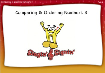 Comparing and Ordering Numbers Lesson 3 Third Grade by Sin