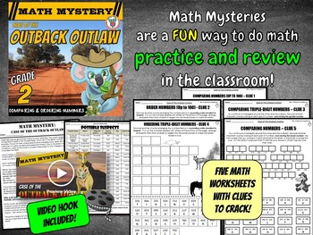 Comparing and Ordering Numbers Math Mystery