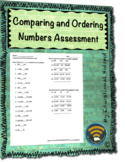 Comparing and Ordering Numbers Place Value Assessment