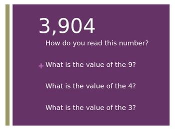 Comparing and Ordering Numbers PowerPoint (Companion to Place Value Activities)