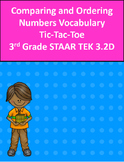3.2D Comparing and Ordering Numbers Vocabulary  Tic-Tac-Toe  3rd Grade