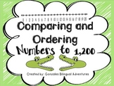 Comparing and Ordering Numbers to 1,200 Bilingual