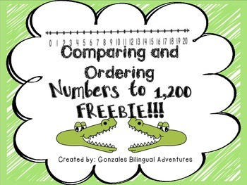 Comparing and Ordering Numbers to 1,200 FREEBIE!!!