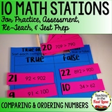 Comparing and Ordering Numbers to 1,200 Math Stations