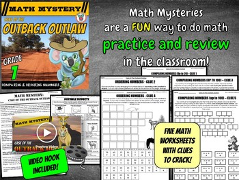 Comparing and Ordering Numbers up to 100 - Math Mystery Activity