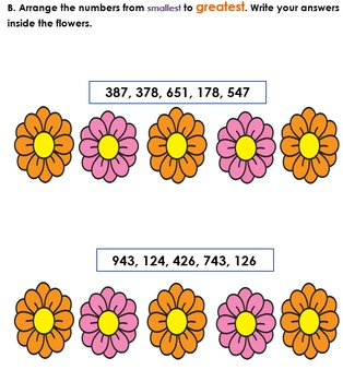 Comparing and Ordering Numbers up to Hundreds (Grade 1 and Grade 2)