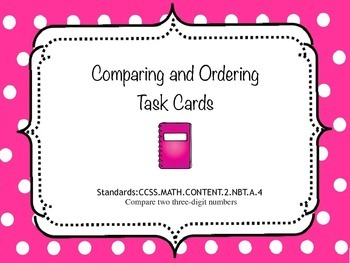 Comparing and Ordering Place Value Task Cards (FREEBIE)