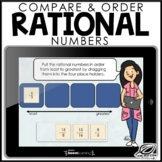 Comparing and Ordering Rational Numbers | Boom Cards | Dis
