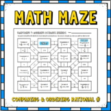 Comparing and Ordering Rational Numbers Math Maze