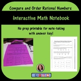 Comparing and Ordering Rational Numbers for Interactive Notebook