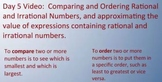 Comparing and Ordering Rational and Irrational Numbers