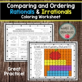 Comparing and Ordering Rationals and Irrationals Coloring Worksheet