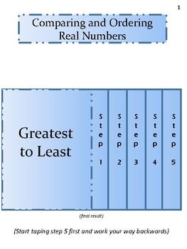 Comparing and Ordering Real Numbers