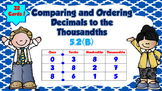 Comparing and Ordering Decimals to the Thousandths- TEKS 5.2B
