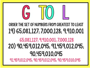 Comparing and Ordering Whole Numbers (5th Grade enVision Power Point)