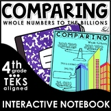 Comparing and Ordering Whole Numbers Interactive Notebook Set