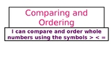 Comparing and Ordering Whole Numbers TEK 4.2c