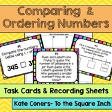 Comparing and Ordering Whole Numbers Task Cards