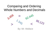 Comparing and Ordering Whole Numbers and Decimals Instructional PowerPoint