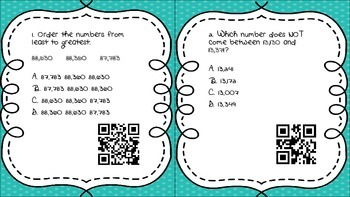 Comparing and Ordering numbers & Rounding numbers