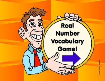 Comparing and Real Number Vocabulary Interactive Math Game