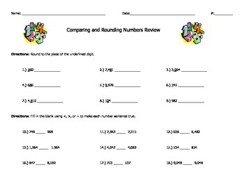 Comparing and Round Numbers Review