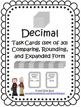 Decimals Task Cards