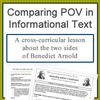 Comparing author's point of view: two treatments of Benedict Arnold