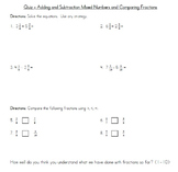 Comparing, decomposing, adding, and subtracting fractions